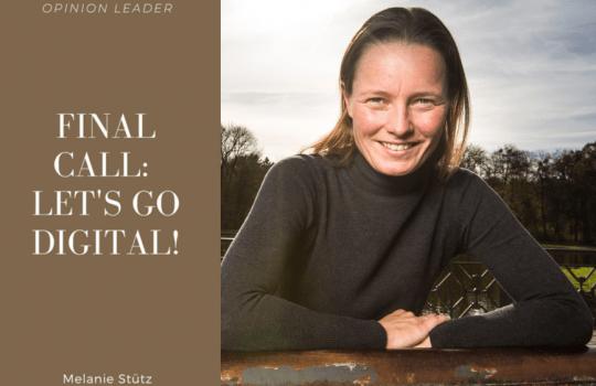 Final Call: Let's Go Digital! A Column @F10