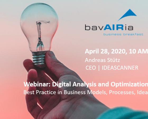 Webinar: April 28, 2020, 10 AM @bavAIRia business breakfast