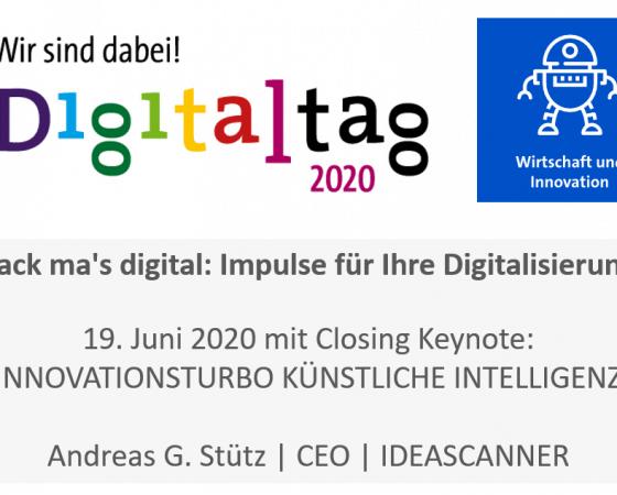 Closing Keynote: Andreas G. Stütz @Digitaltag2020