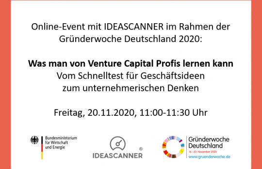 IDEASCANNER in Education, Global Entrepreneurship Week