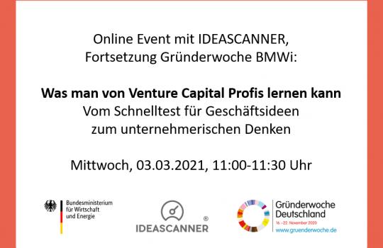 Registration: online event with IDEASCANNER